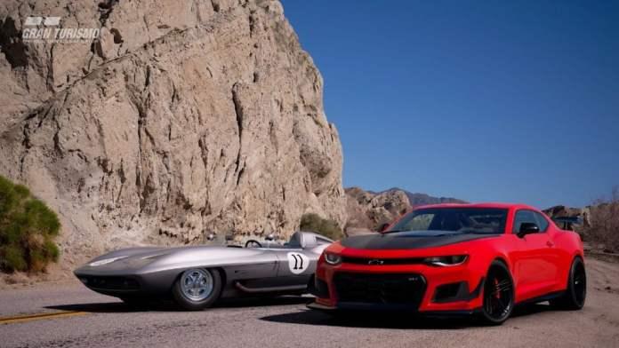Corvette e Camaro estão prontos para a corrida (Imagem: Polyphony Digital)