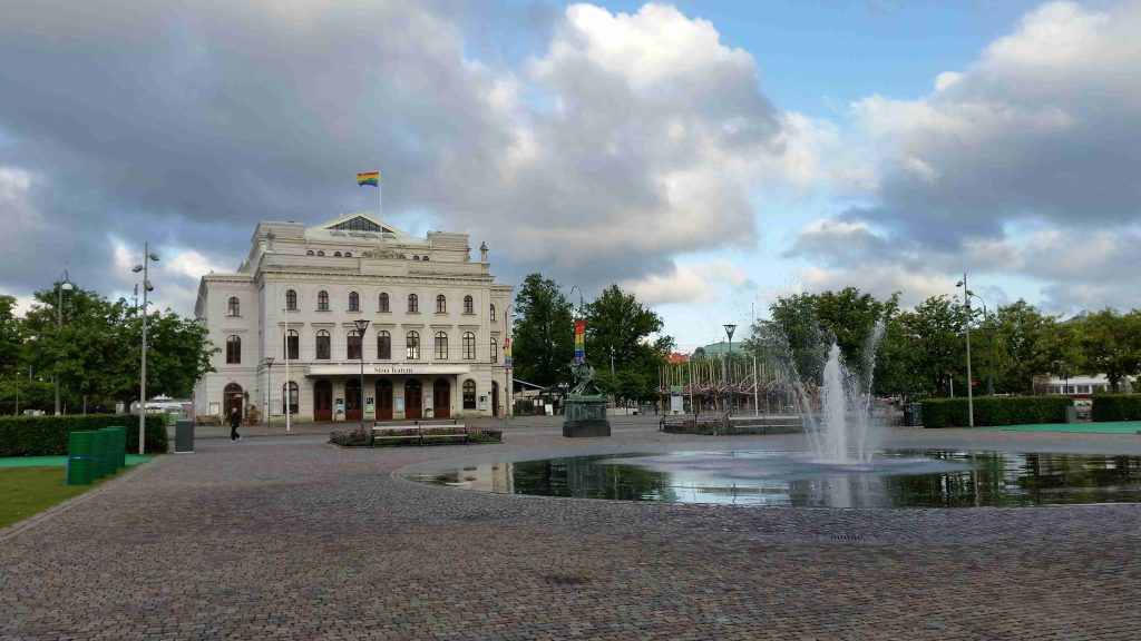 Goteborg - Stora theater - with LGBT flag