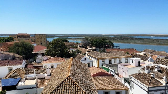 Faro lagoon view from cathedral tower / Excursie de o zi in Faro