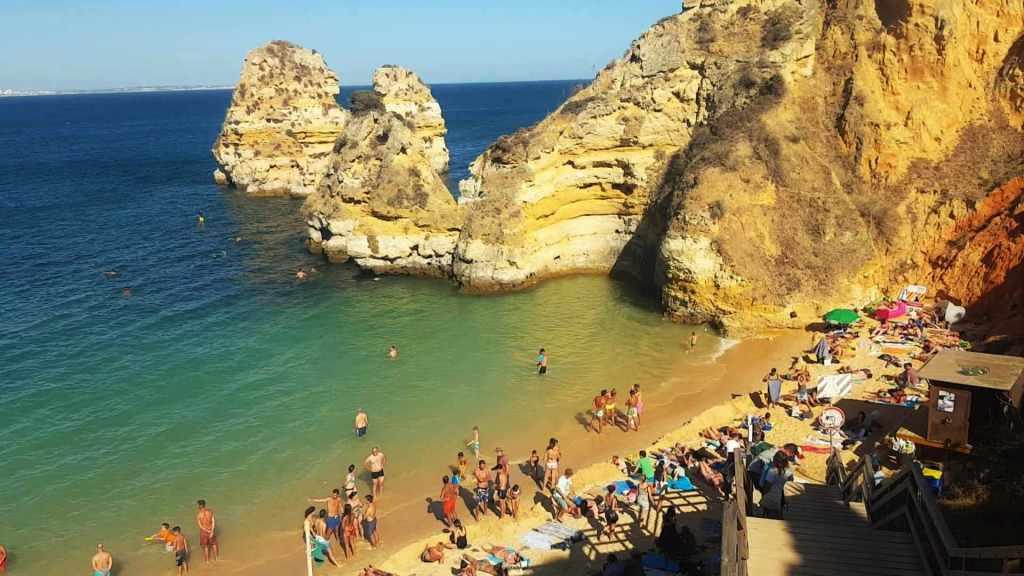 Praia do Camilo Algarve Portugalia