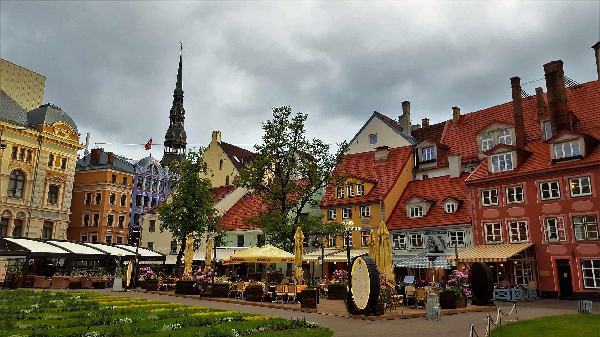 Riga art nouveau city center