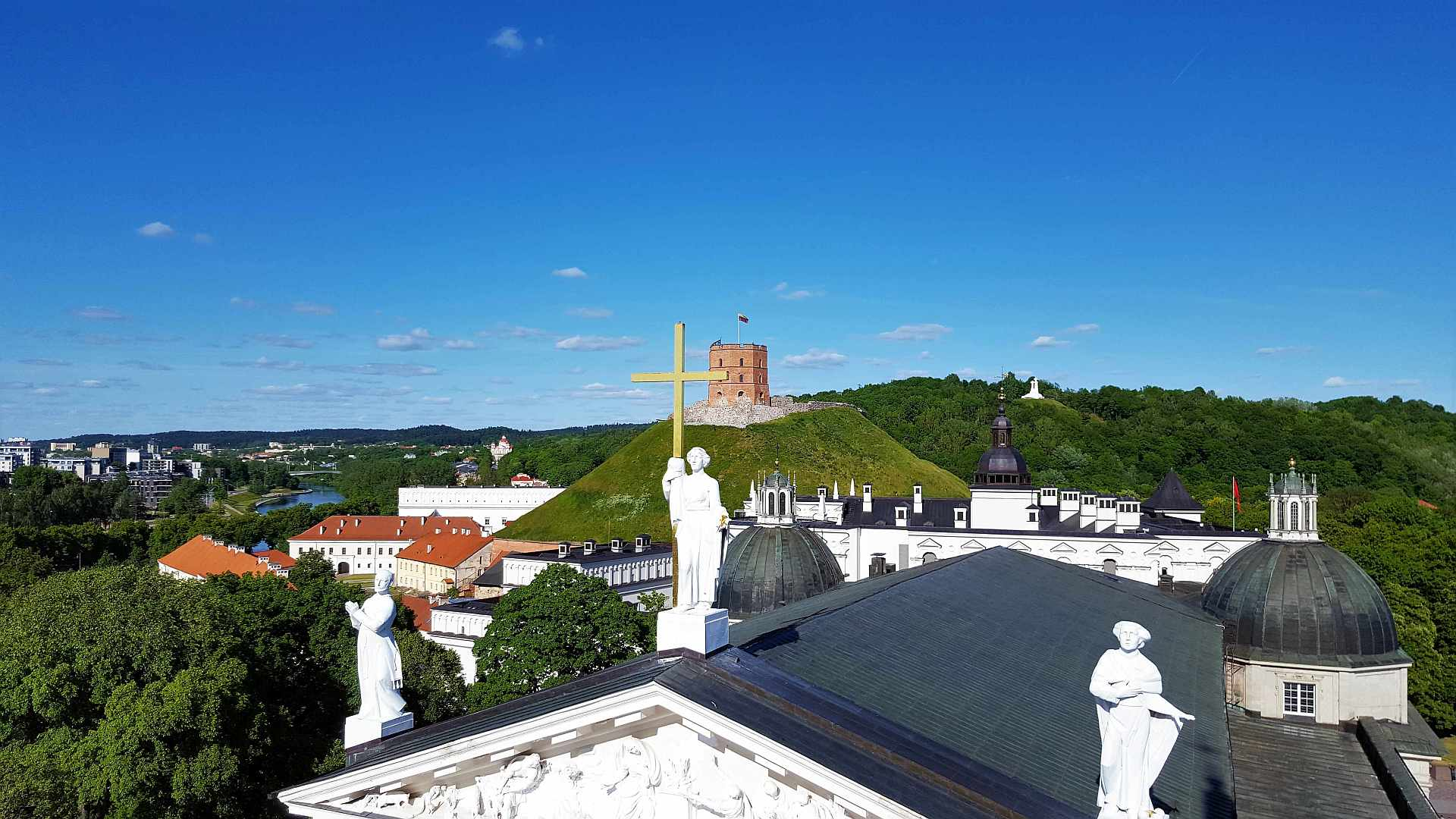 Vilnius Upper castle view from the Bell Tower -trivo.ro