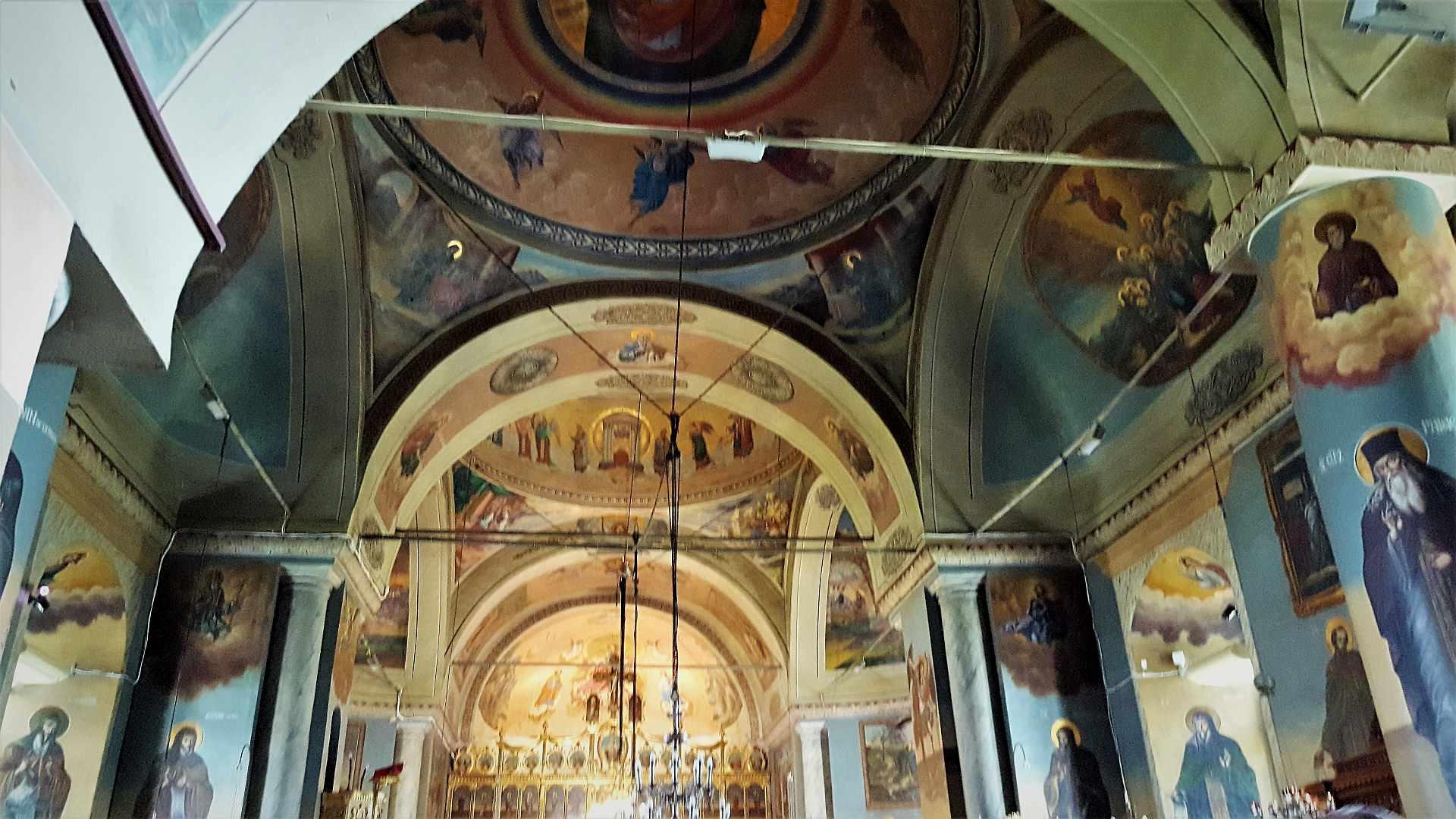 Pictura interioara Manastirea Cernica