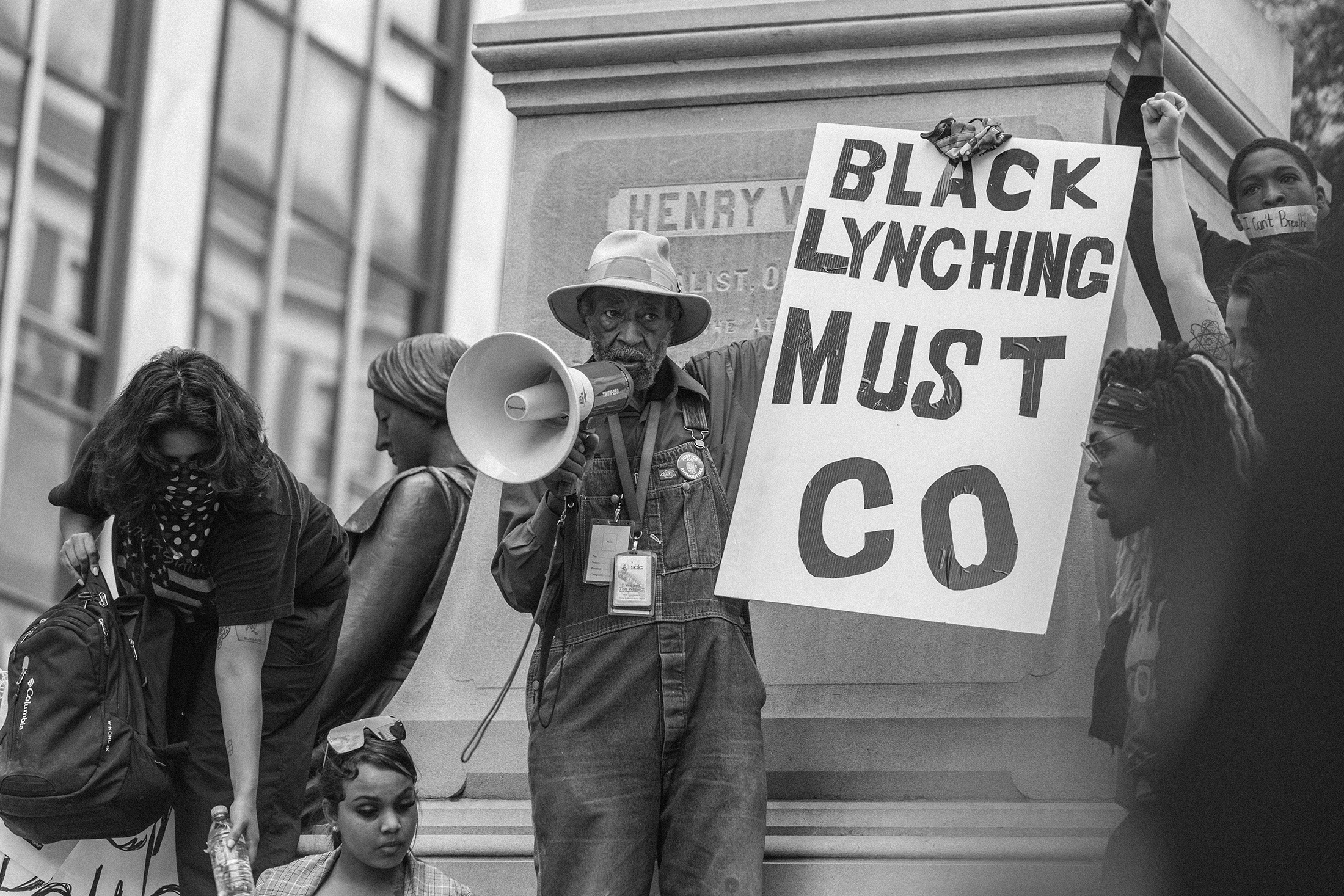 Protestors for the death of George Floyd and other African Americans killed by police brutality on May 29 in Atlanta, Georgia. PHOTO: LYNSEY WEATHERSPOON