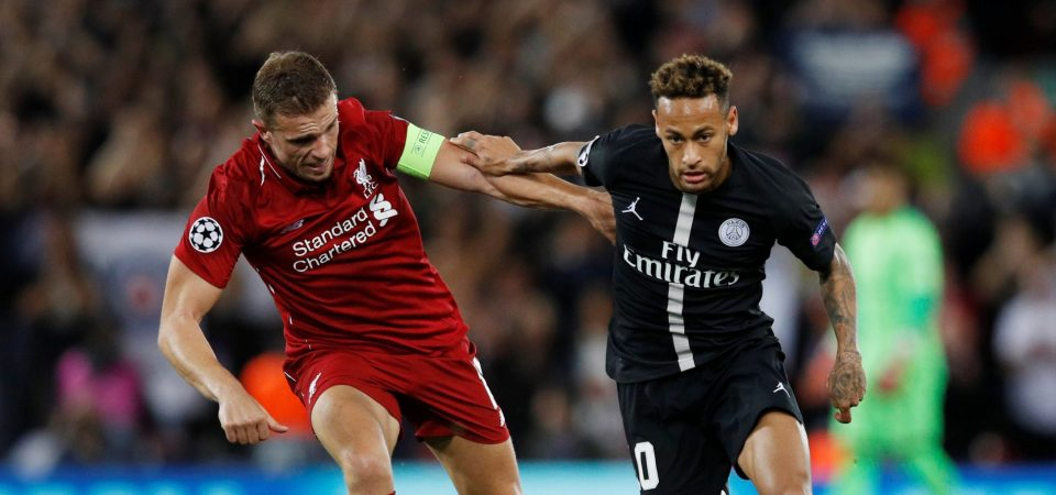 Liverpool fans applauds Henderson's performance against Paris Saint-Germain
