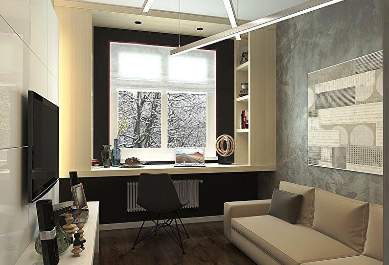 дизайн зала в хрущевке 6