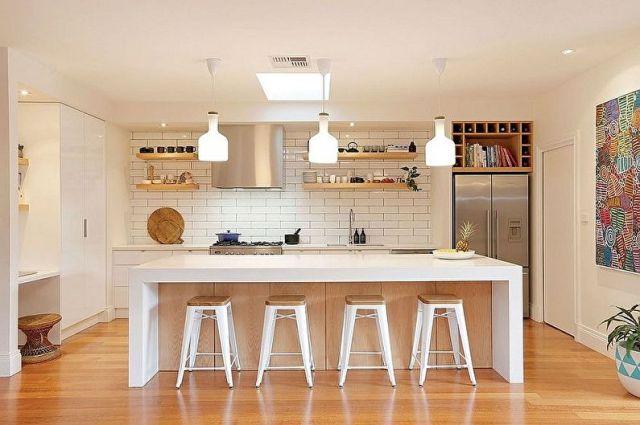 Bej İskandinav Tarzı Mutfak - İç Tasarım