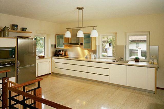 Bej Mutfak Tasarımı - Zemin Kaplama