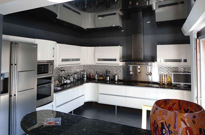 дизайн потолков кухни 1