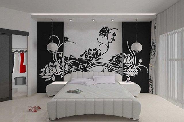 Boyama için duvarlar için şablon çeşitleri - odaya bağlı olarak