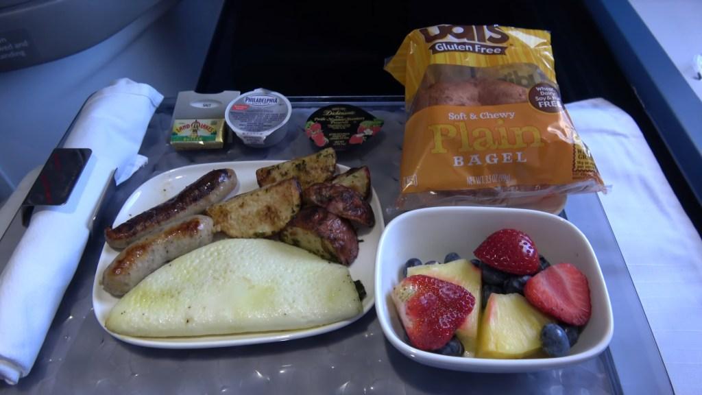 Delta One Gluten Free breakfast