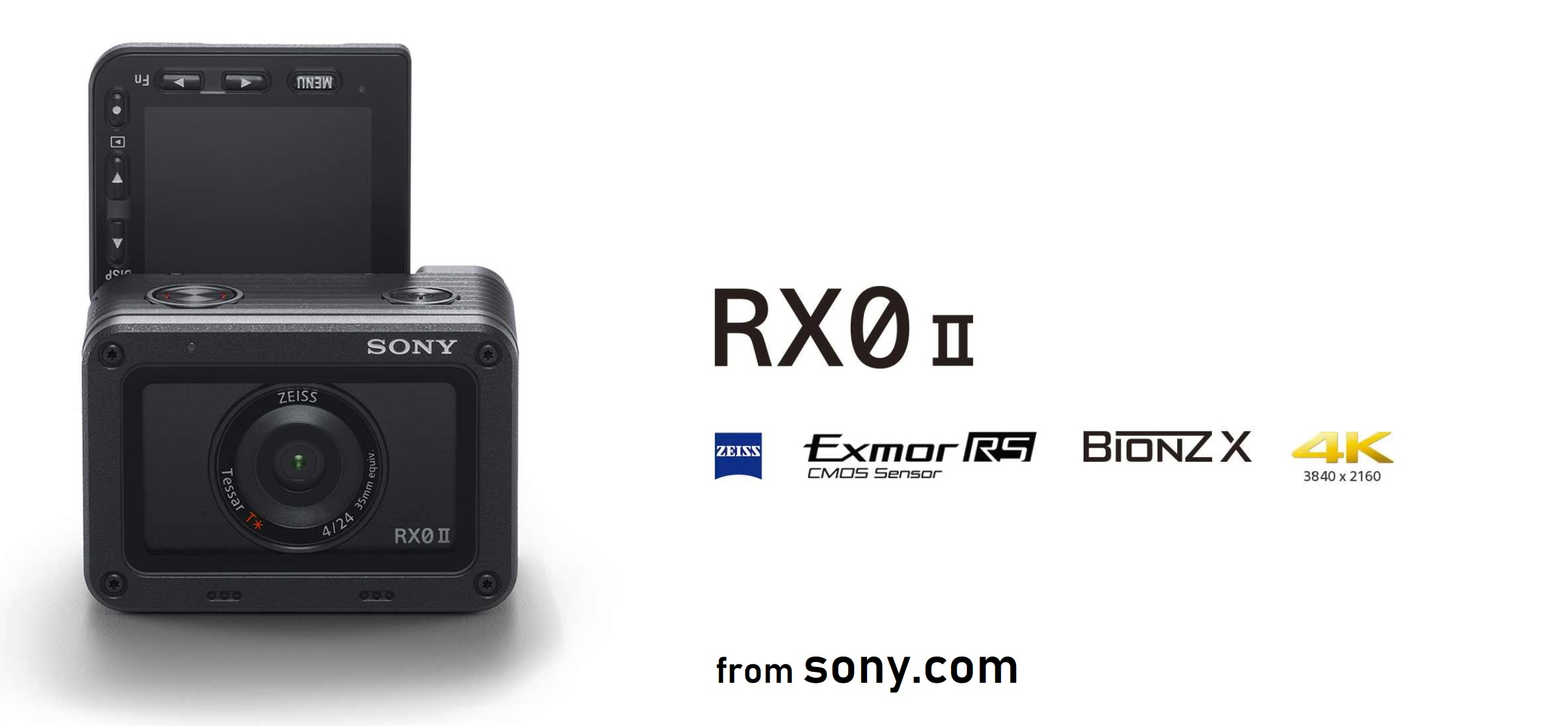 The vlogging flip screen on the RX0-ii from Sony.com