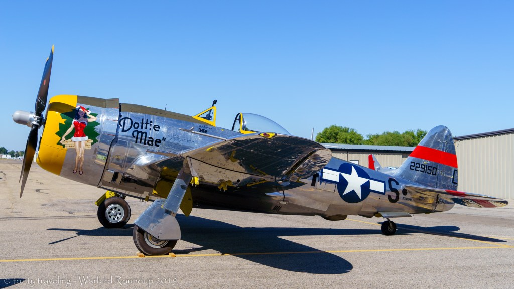 P-47 thunderbolt dottie mae warbird roundup 2019 warhawk air museum