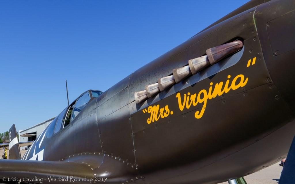 P-51A mrs Virginia warbird roundup 2019 warhawk air museum