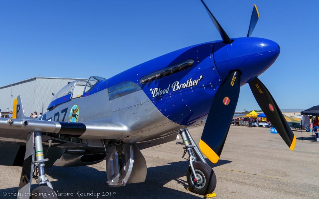 P-51D blood brother warbird roundup 2019 warhawk air museum