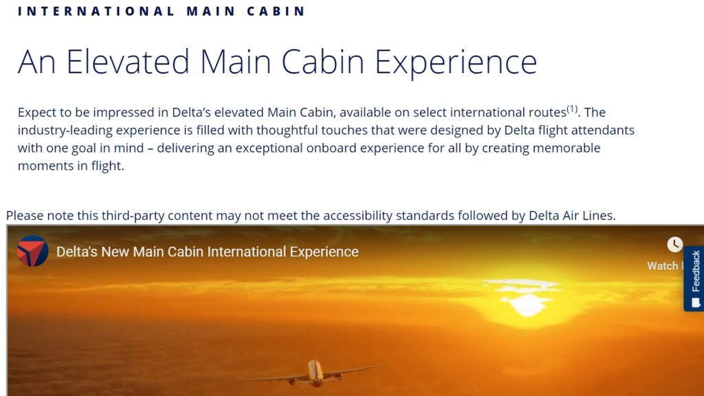 elevated main cabin experience delta airlines