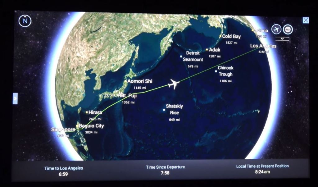 singapore airlines moving map
