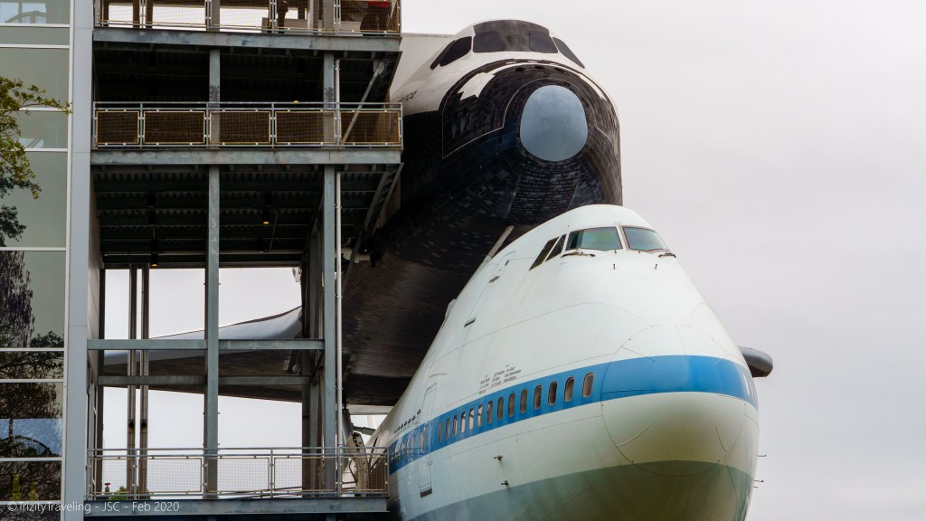 space shuttle independence aboard the transport 747
