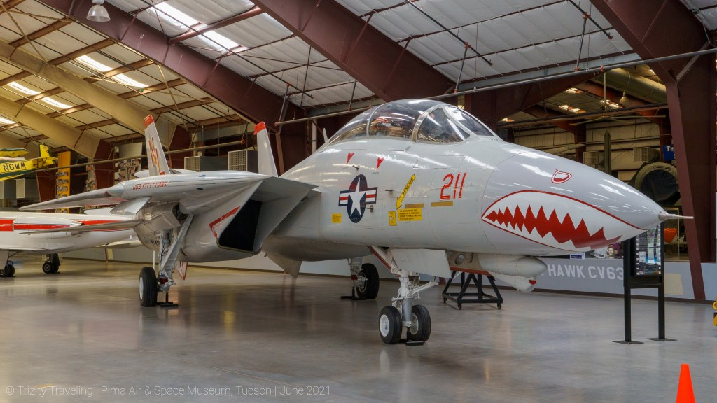 Full view of an F-14 Tomcat
