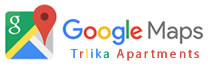 Google Maps Trlika Apartments