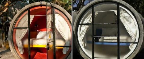 Ever want to sleep in a giant tube pipe? Now you can at Tubohotel