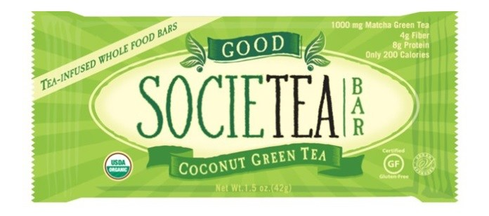Product Spotlight: Good Societea Coconut Green Tea Whole Food Bar