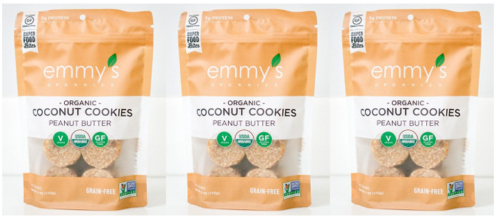 Snack Spotlight: Emmy's Organics Introduces New Peanut Butter Coconut Cookies; Expands Retail Distribution