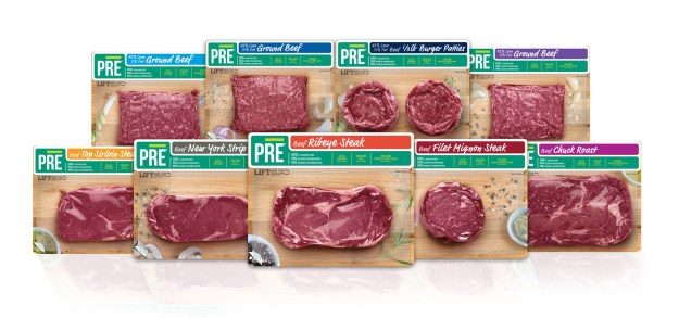 PRE Brands, purveyors of the world's tastiest 100 percent grass fed, pasture raised beef, has expanded its retail presence to include Shaw's and Starr supermarkets and Jet.com, and added 1/3 lb. hamburger patties to the portfolio. Visit www.pre-brands.com to find PRE near you. (PRNewsfoto/PRE Brands)