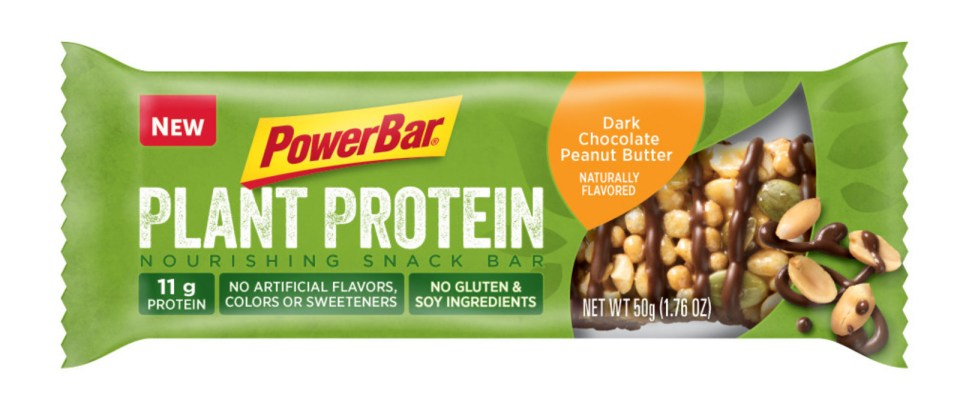 PowerBar Plant Protein Dark Chocolate Peanut Butter Bar (PRNewsfoto/PowerBar)