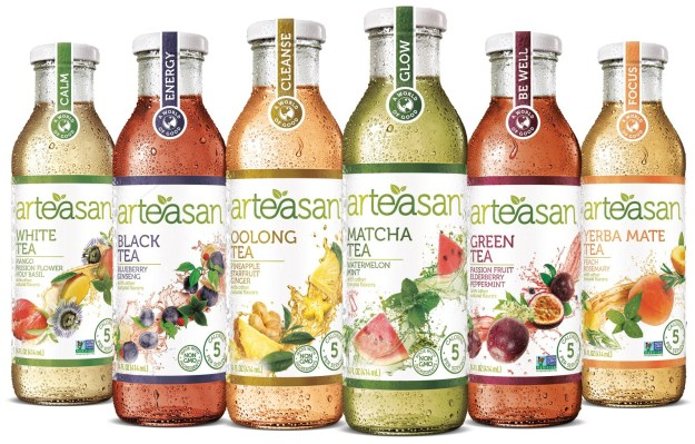 Arteasan expands portfolio to six deliciously unexpected flavors. (PRNewsfoto/Arteasans Beverages LLC)
