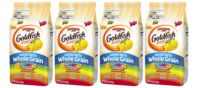 Snack Spotlight: Pepperidge Farm Goldfish® Colors Cheddar Made with Whole Grain Baked Crackers