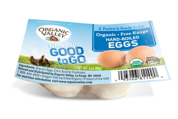 Good to Go™ Hard-Boiled Eggs bring another piece of Organic Valley goodness to on-the-go lifestyles (PRNewsfoto/Organic Valley)