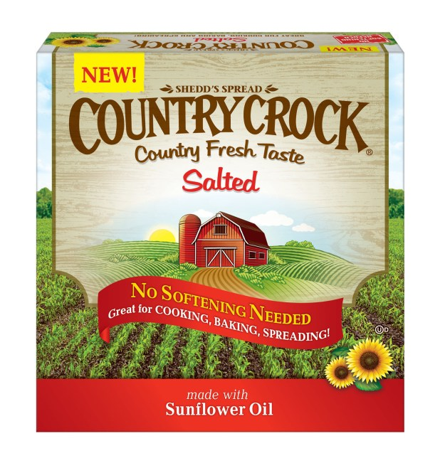 Country Crock® Salted Buttery Sticks, (PRNewsfoto/Unilever United States, Inc.)