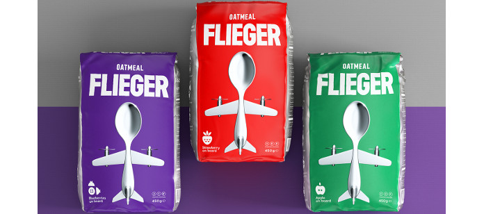 Packaging Spotlight: Flieger Oatmeals