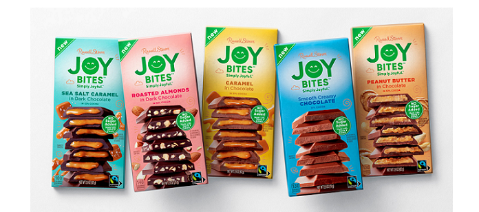 Chocolate Spotlight: Russell Stover Introduces 'Joy Bites', the Brand's First No Sugar Added Assortment of Chocolate Bars