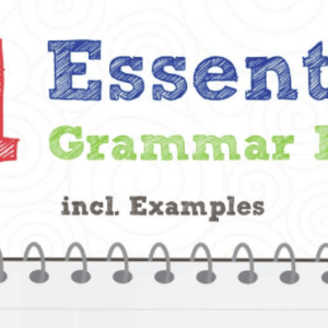 11 Essential Grammar Rules incl. Examples (Infographic)