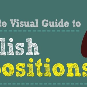 The Visual Guide to English Prepositions Part 1/2 (Infographic)