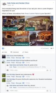 Facebook event page management