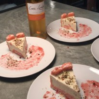 Lemon Lime Cheesecake with dessert wine