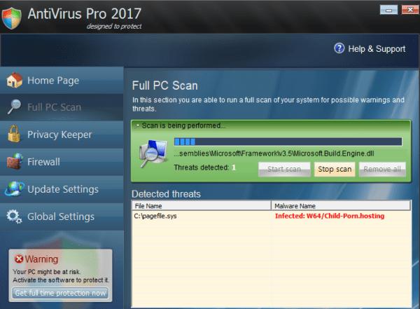 Antivirus Pro 2017 rogue
