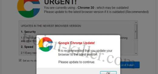 Remove Urgent Chrome Update