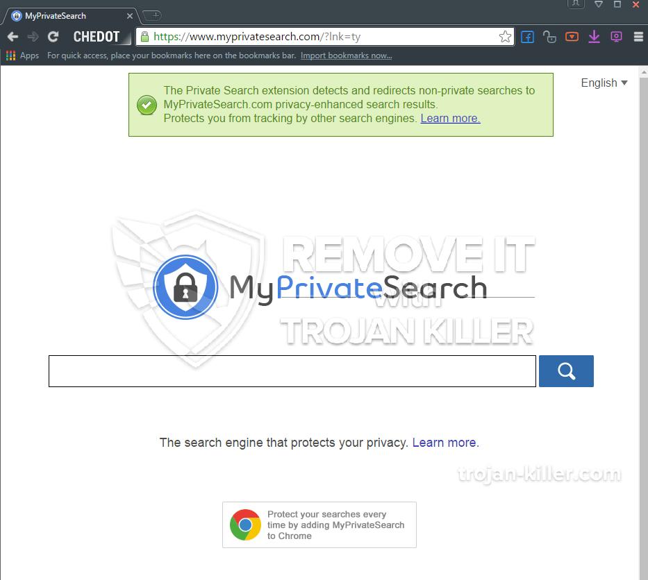 remove MyPrivateSearch virus