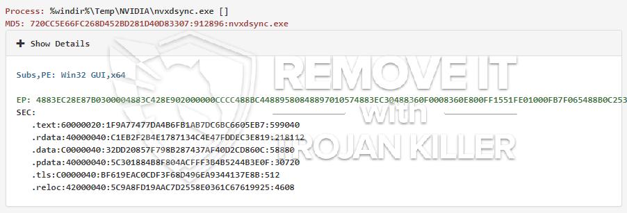remove nvxdsync.exe virus