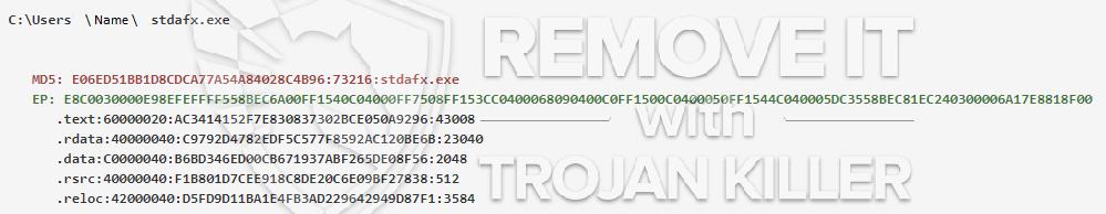 remove stdafx.exe virus