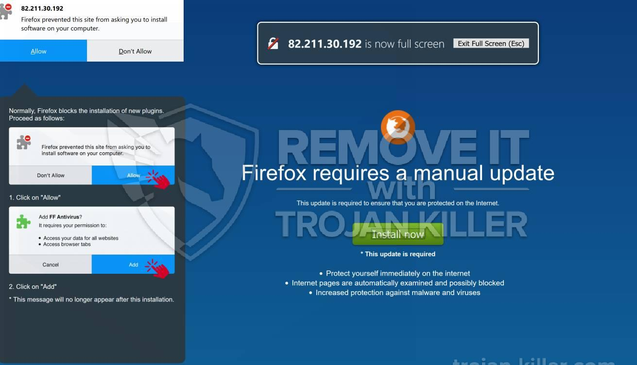 remove FF uBlocker virus