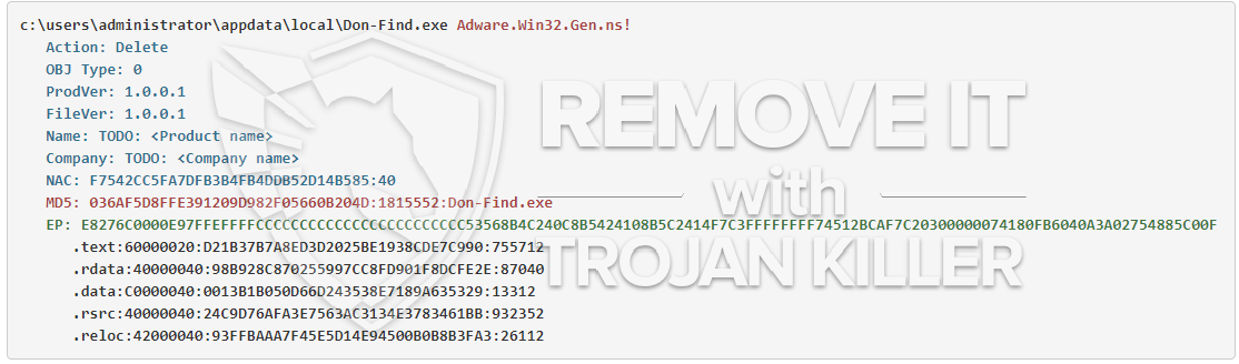 remove Don-Find.exe virus
