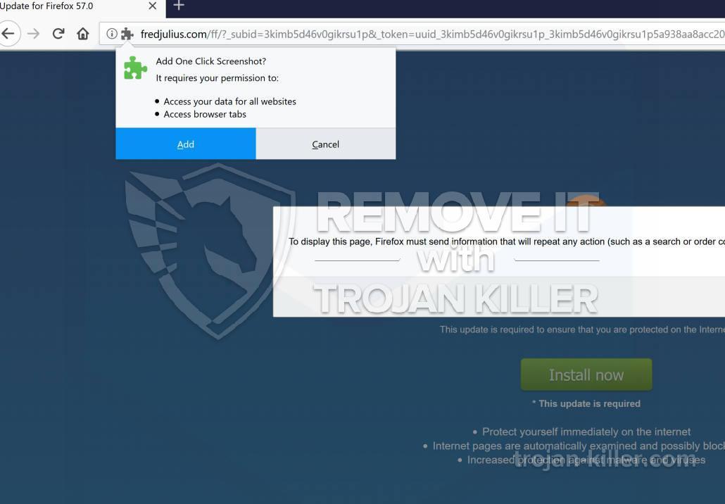 remove One Click Screenshot virus