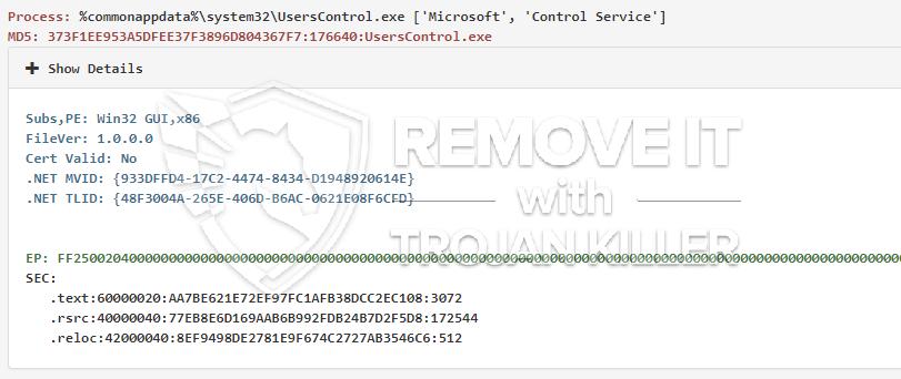 remove UsersControl.exe virus