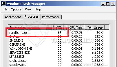 remove rundll64.exe virus