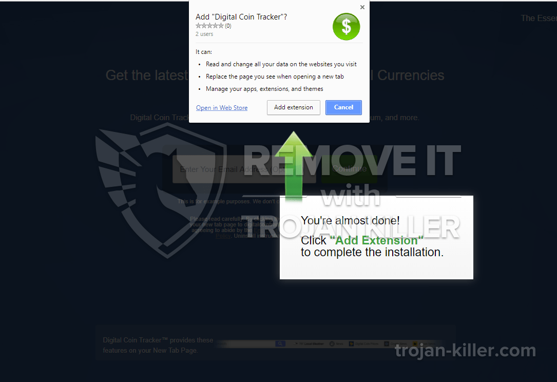remove digitalcointracker.net virus